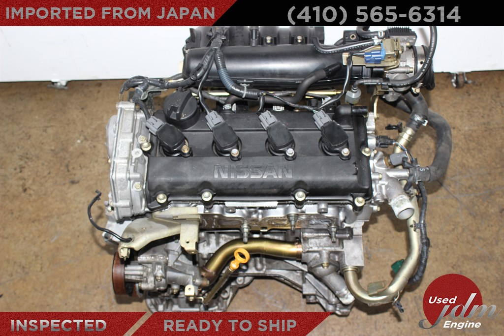 Jdm 02 03 04 05 06 nissan altima sentra ser 2 5l engine for Major motors baltimore maryland